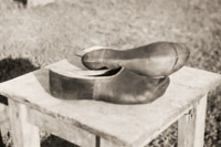 Avar footwear, Tabakhgol Village, Belekan District, 1960s