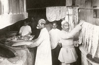 Lavash bakery in Baku, 1900s