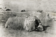 Временное жилише на кочевке, 1935г., Фото Джафар–заде