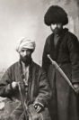 Men in national dress, Borchali, 19th century